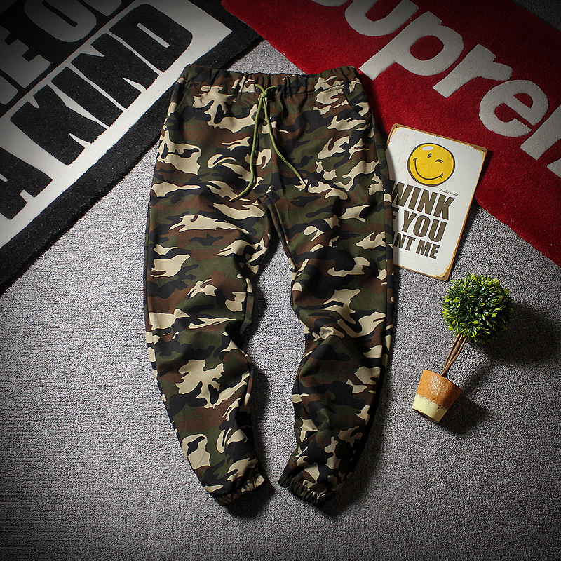 2018 Spring Clothing Men's Loose-Fit Skinny Camouflage Pants Retro Popular Brand Ankle Banded Pants Large Size M-c24-gz220