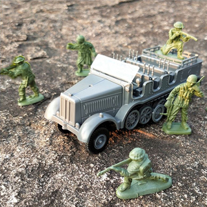 1:72 Sd.Kfz.7 Half-Track Military Vehicle Assembly Model World War II Model Puzzle Building Block Sand Table Toys For Children