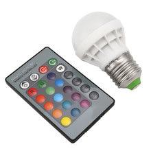 RGB 3W Дистанционное управление освещением Bluetooth E27 85-265V AC Лампа IR 13 цветов светодиодный 4 режима лампы RC изменение ПК MP3& Amp; медиаплееры