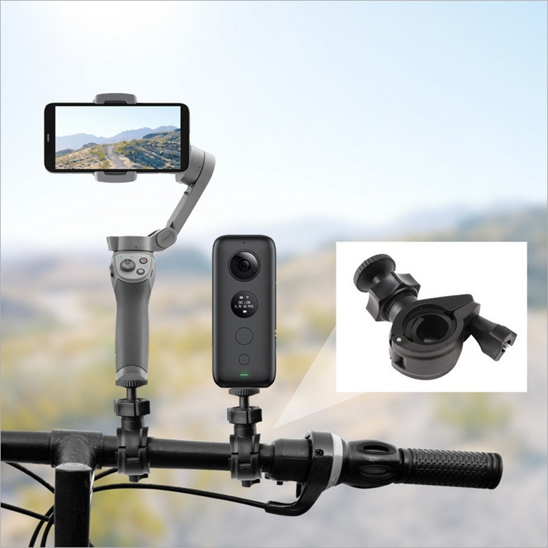 For DJI OSMO Mobile 2 Handheld Gimbal Holder Insta360 One X Bicycle Mount Clamp Bike Clip Holder Bracket For DJI OSMO Mobile 3