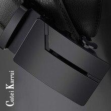 Catei Karrui Men's Belt Set Ratchet Leather with Automatic Buckle Christmas Gift Top Quality Belt Cummerbunds Luxury Black Belts