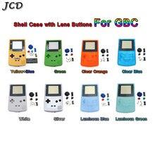 Gbcのためのjcd限定版シェル交換ゲームボーイカラーgbcゲームコンソールフルハウジングケースとボタンセット