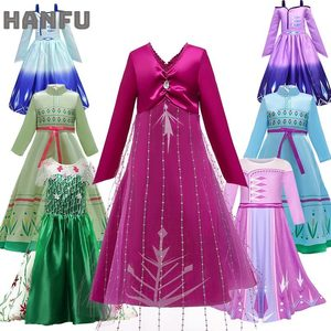 Детское платье Снежной Королевы 2 Эльзы летнее платье для девочек карнавальные костюмы принцессы Анны для девочек, Детский костюм, одежда