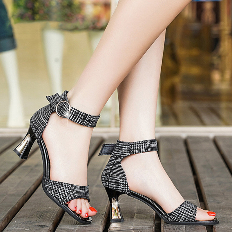 Cresfimix women cute light weight bow tie open toe high heel shoes ladies classic summer shoes cute sandals talon femme a5702