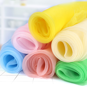 15 color Sheer organza fabric wedding party birthday decoraction DIY sewing fanric - discount item  23% OFF Arts,Crafts & Sewing