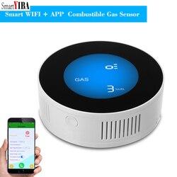 SmartYIBA APP control WiFi inalámbrico de Detector de Gas Sensor de alarma Sensor de fuga de Gas fuga de gas Natural detector