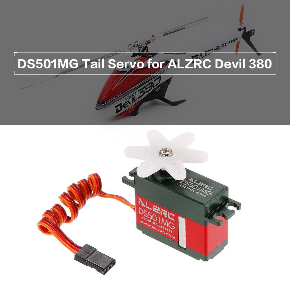 DS501MG RC sans noyau moteur queue Servo pour ALZRC Devil 380 420 450 rapide SAB gobelin 380 RC hélicoptère Drone pièces