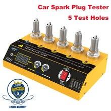 新しいautool SPT360 220 12v車のスパークプラグテスター点火テスター5穴スパークプラグフラッシュオーバーアナライザツール