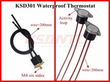 50pcs KSD301/KSD302 waterproof 0C-200C degree Normally Closed Temperature Switch Thermostat 100 110 120 130 135