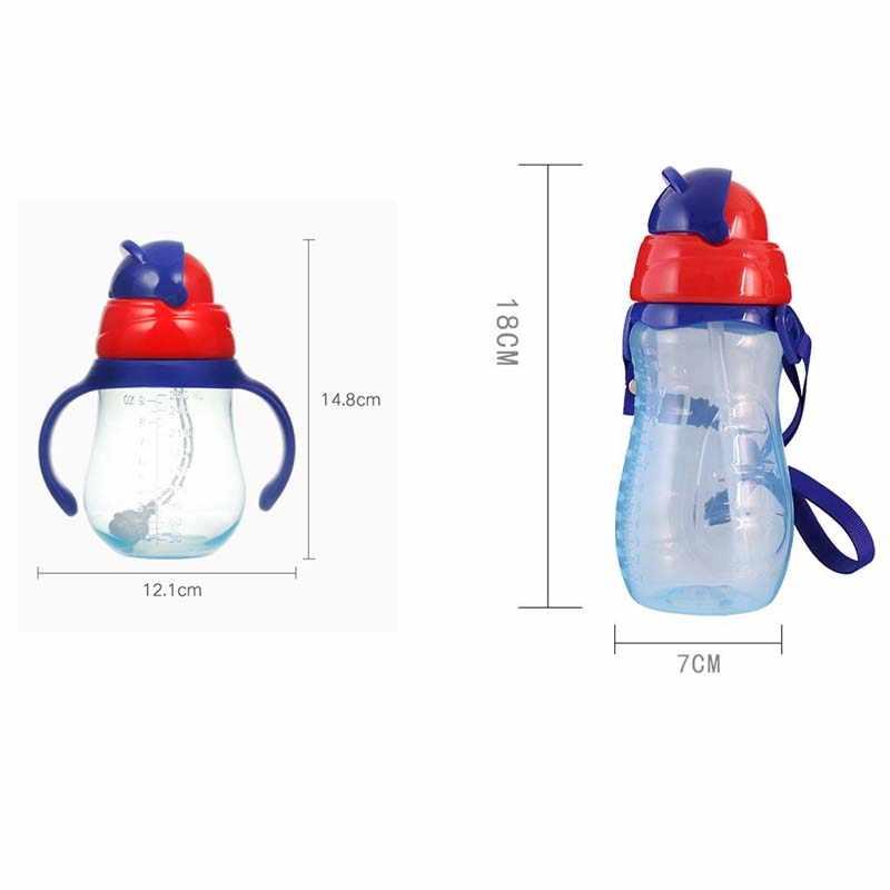 ใหม่เด็กขวดถ้วยน้ำเด็กนมขวดปากนุ่มทารกเครื่องดื่มการฝึกอบรมขวดนม Biberones Para Bebe