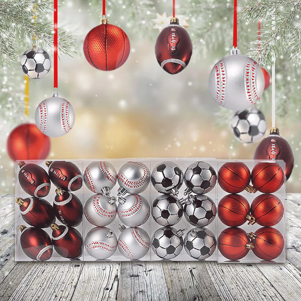 Creative 6cm Christmas Ball Christmas Tree Decoration Football