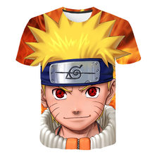 3D Naruto Tshirt Kids Zomer Harajuku Koele Unisex Korte Mouw T-shirt Japanse Anime Grappige Gedrukt Streetwear Jongens T-shirt