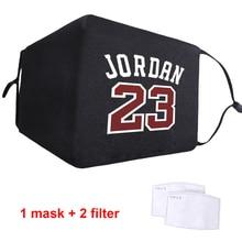 Face-Masks Jordan Soft-Fabric Anti-Dust Half-Face-Mouth Adult 23-Printed Reusable Muffles