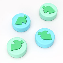 OIVO Animal Crossing Silicone Leaf Joystick Thumb Grip for Nintend Switch/Lite  Joy con 4 PCS Stick Grip Key Case Analog Caps