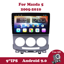 Android 9.0 IPS Car DVD Multimedia Player for MAZDA 5 2005-2007 2008 2009 2010 No 2Din Radio Audio GPS Navigation WIFI Quad-Core