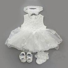 Vestido para meninas, 1 conjunto bebê vestido de verão para meninas princesa batismo vestido de festa casamento 0-3-6 roupas de vestido de 6-9 meses