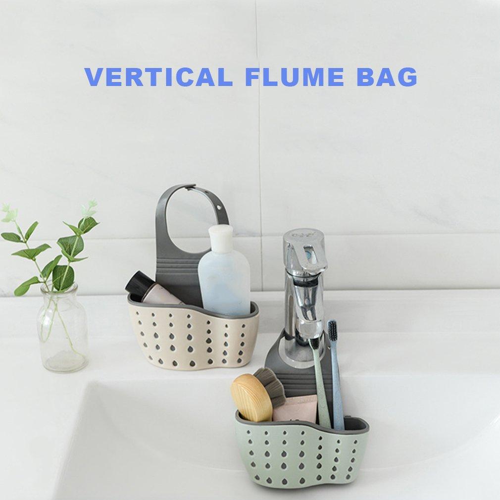Double Sink Drain Bag Plastic Drain Basket Storage Hanging Basket Kitchen Supplies Kitchenware Storage Rack Drain Hanging Bag