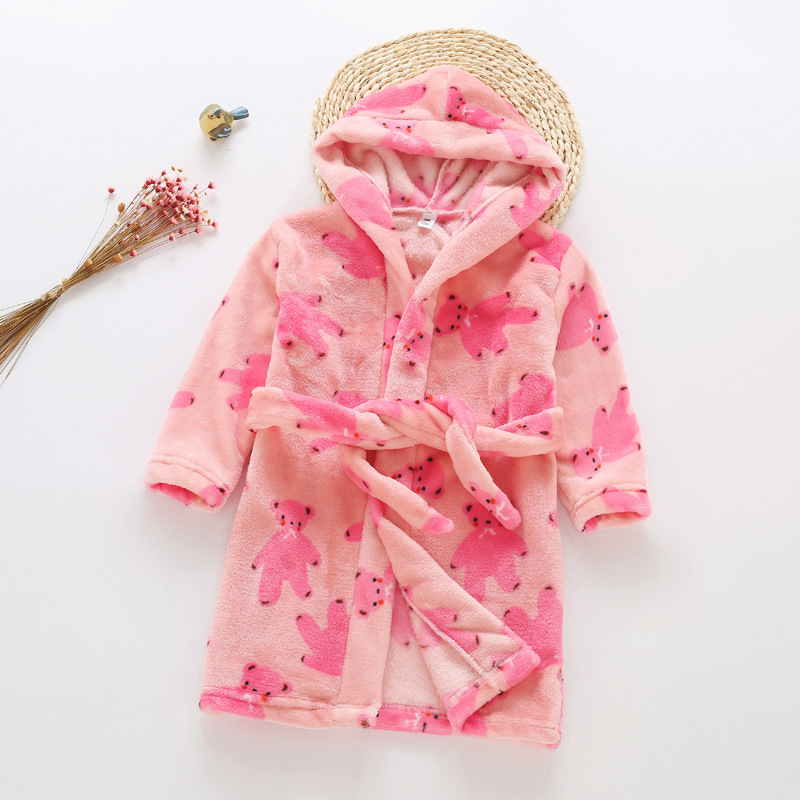 2018 Winter J Simple Comfortable Home Wear Childrenswear Women's Robes Super Soft Flannel