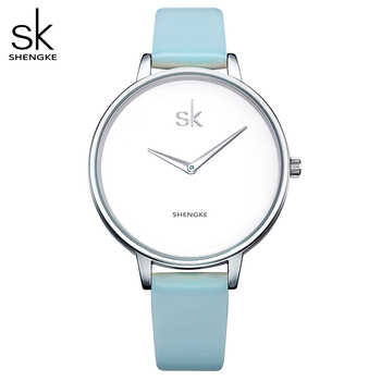 Shengke Fashion Wrist Watch Women Watches Ladies Luxury Brand Famous Quartz Watch Female Clock Relogio Feminino Montre Femme SK image