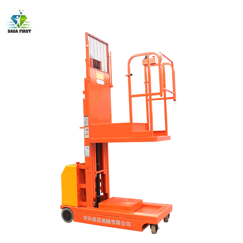 Hydraulic Platform Lifting Self Propelled Order Picker With 300kg Load Capacity