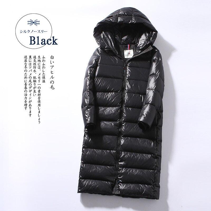 Thick Women's Down Jacket Hooded Winter Coat Women 90% Duck Down Jackets Korean Long Puffer Jacket Warm Parka KJ2699