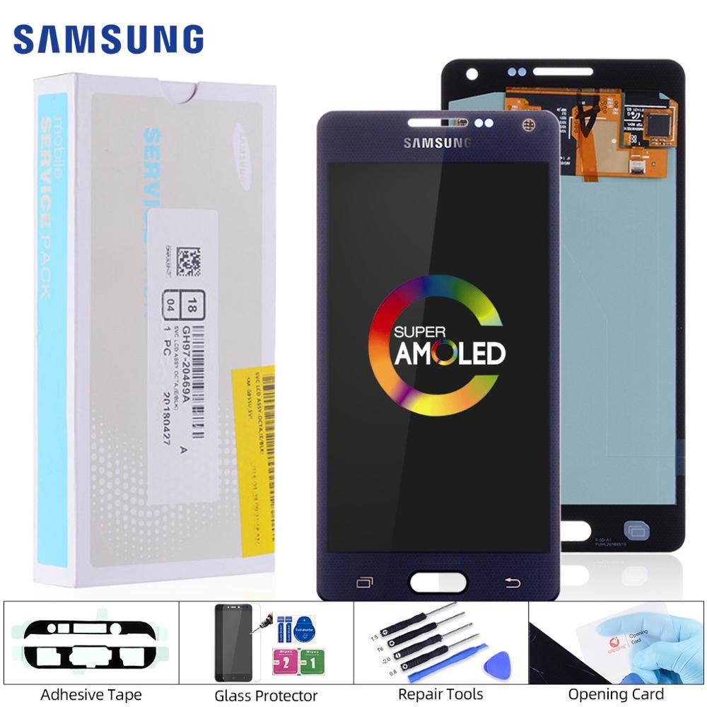 Original AMOLED <font><b>LCD</b></font> for <font><b>SAMSUNG</b></font> Galaxy A5 2015 Display Touch Screen Replacement For <font><b>SAMSUNG</b></font> Galaxy A5 A500FU <font><b>A500</b></font> A500F A500M image