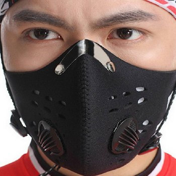Pollution Mask Adult Anti PM 2.5 Pollen Dust Mask Washable Anti-fog Anti Dust Mask Activated Carbon Filter with 2 Filters