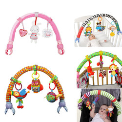 Hot sale lovely Stroller Lathe Car Seat Cot Hanging toys baby play Travel baby infant baby Toys educational rattles 20%off