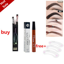 Pencil Eyebrow-Pen Cosmetic Dark-Brown Waterproof Natural Long-Lasting 5-Colors Tip Liquid