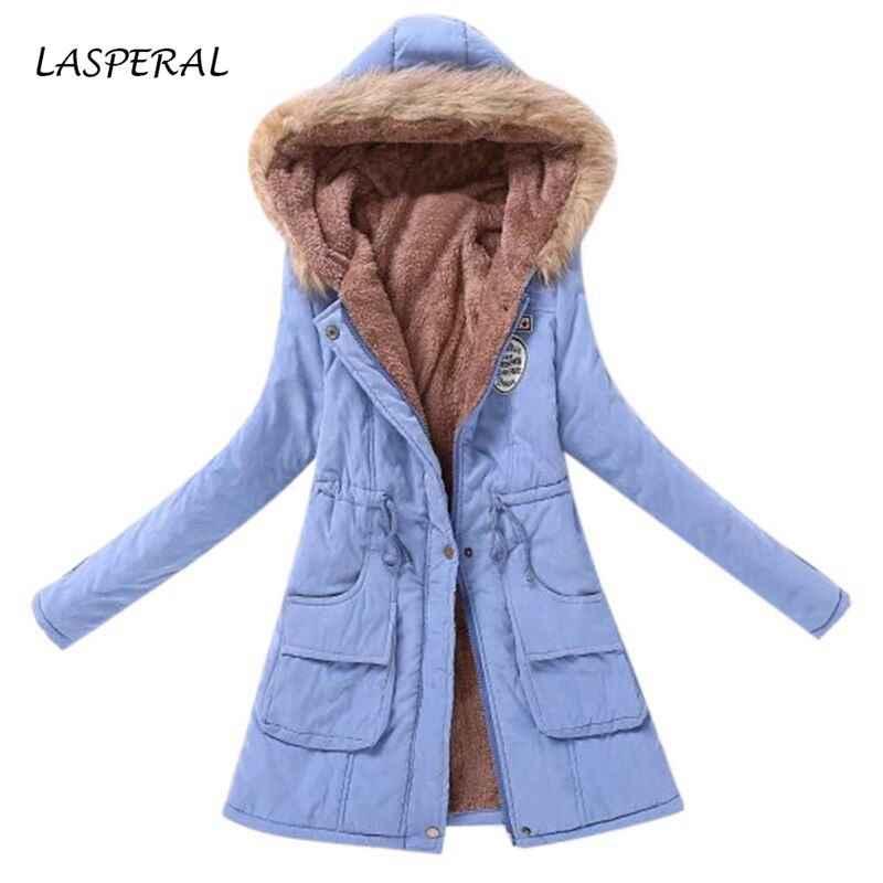 Winter Jacke Frauen Pelz Kragen Parkas Schlank Zipper Parkas Wolle Hut Gürtel Hoodie Verdicken Winter Mantel Outwear Lange Weibliche Schnee mantel