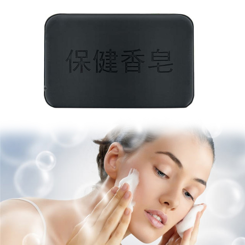 Black Natural Bamboo Charcoal Soap Face Body Skin Care Oil Control Whitening 40g R3MF