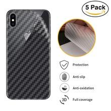 5pcs Soft Carbon Fiber Back Film Sticker For New ipad Pro 11 Clear Matte Screen Protector