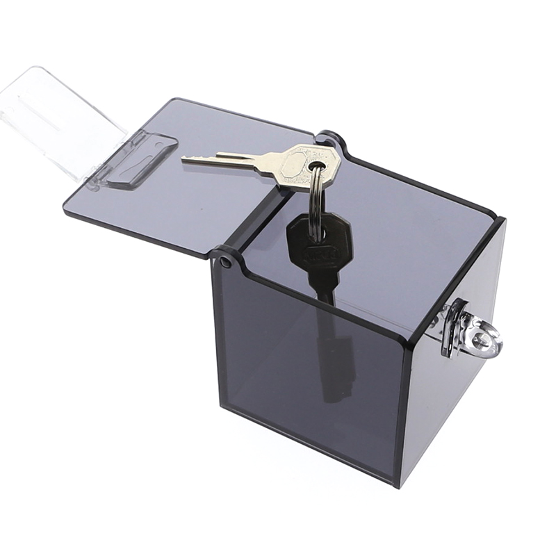 Safe Holder box BDSM Bondage Collar for Adult Games Grey Acrylic Box New bdsm sex adult sex toys gag Chastity Cage Key