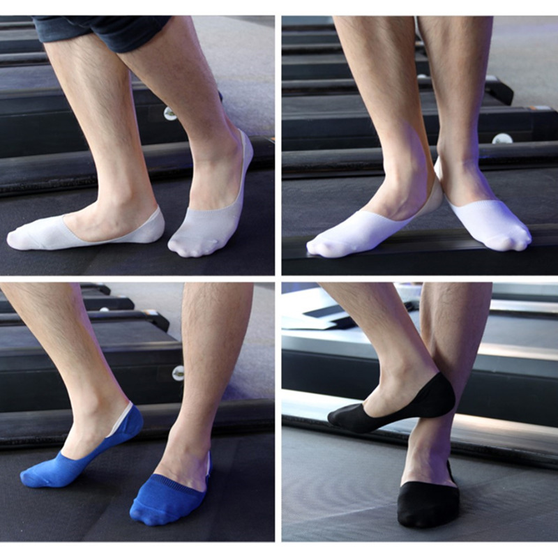 No Show Boat Socks Brand DAZI 2018 Spring New Arrived Bamboo Breathable Calcetines Invisibles Spandex Toe Men Socks