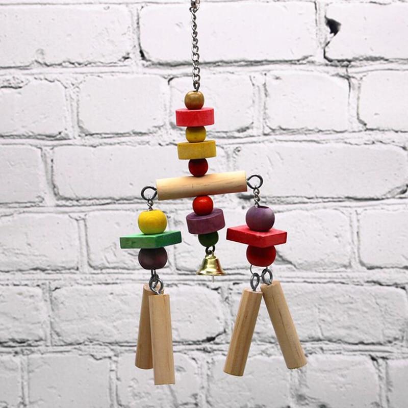 Деревянная подвесная игрушка-попугай, милая игрушка-попугай, деревянная струна для птиц, играющих в укусы, скалолазание, здоровый укус