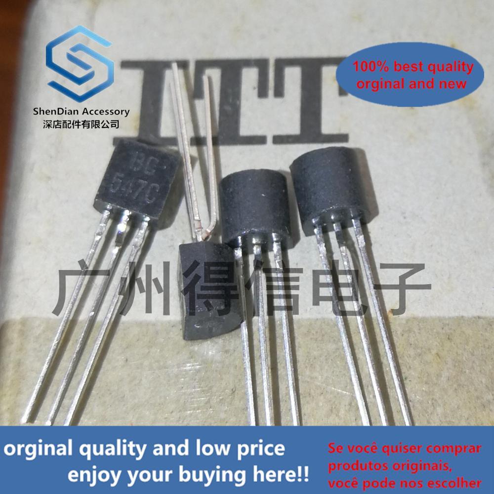 50pcs 100% Orginal New BC547C BC547 Copper Feet Amplify 500 TO-92  Real Photo