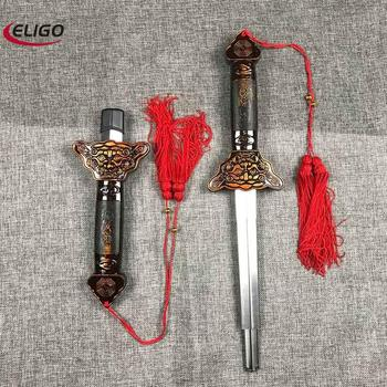 Shaolin Sword Wushu Sword Martial Arts Kung Fu Tai Chi Extend Perform Scalable Sword Magic Blade Outdoor Fitness Products stainless steel telescopic sword performance sword kung fu swords taiji martial art martial arts training telescopic sword