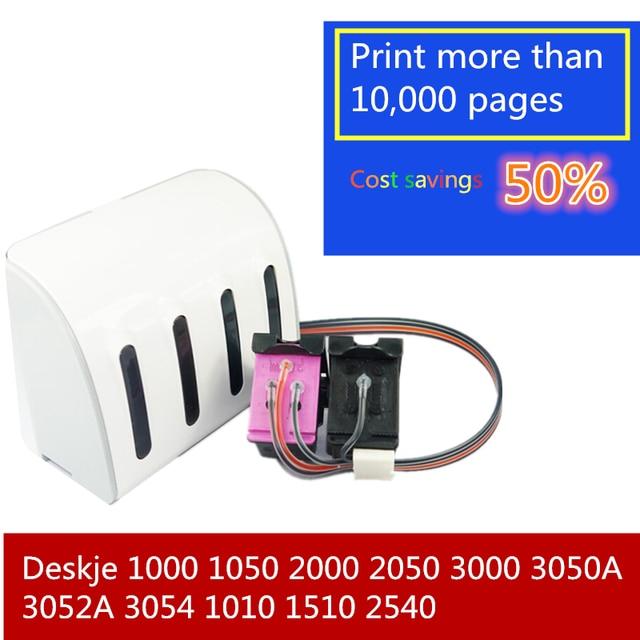 CISS la tinta para 122 122XL cartucho de tinta para HP Deskjet serie 1000 1050 1050A 1510, 2000, 2050, 2540 2050A 3000 3050 3050A impresora