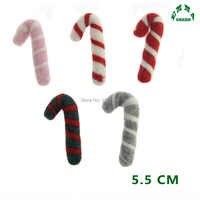 Weihnachten Candy Canes Wollfilz Puppe Weihnachten Woll Handwerk Ball Handgemachte Pom Pom Mädchen Raum Dekoration große 5,5 CM