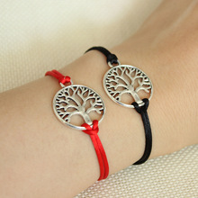 Simple Hand-woven Red Rope Life Tree Bracelet Couple Honey Jewelry Gifts for Men!