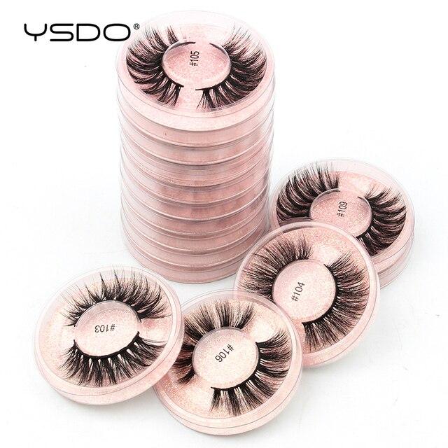 YSDO Makeup Eyelashes Wholesale 4/10/20/30/50pcs Mink Lashes Fake lashes Natural False Lashes Mink eyelashes set Eyelashes Bulk 6