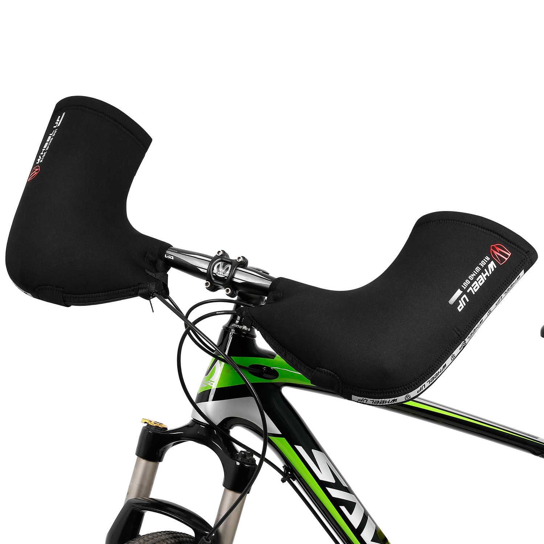 Kış bisiklet Bar eldiveni rüzgar geçirmez bisiklet eldiven soğuk hava MTB bisiklet gidon Mitten bisiklet termal kapak dahili eldiven