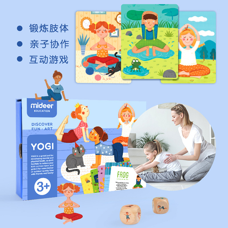 MiDeer Mi Deer Yoga Card Children English Early Childhood Baby Fitness Parent And Child Interactive Puzzle Game Card