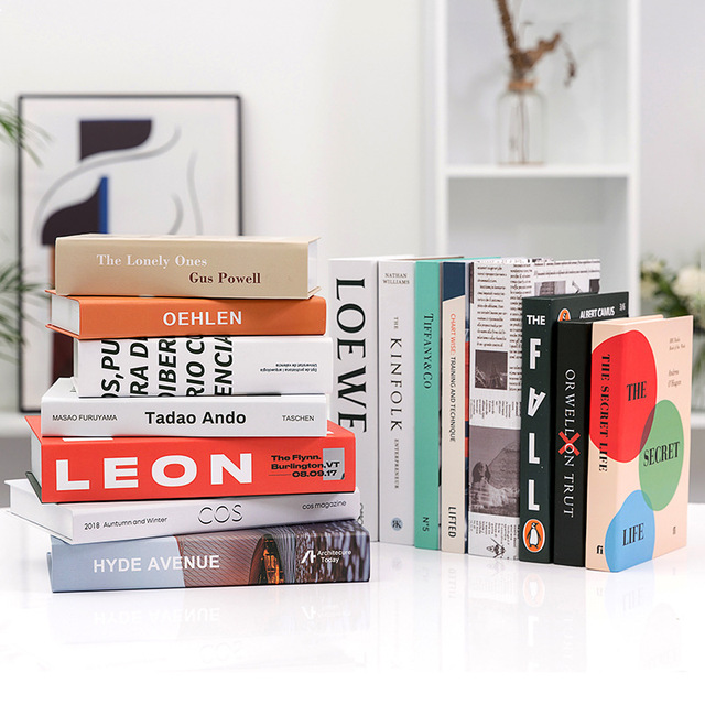 Modern Simple Home Decorative Book Simulation Book Decor For Club Hotel Model Room Study Soft Fake Book Model 5
