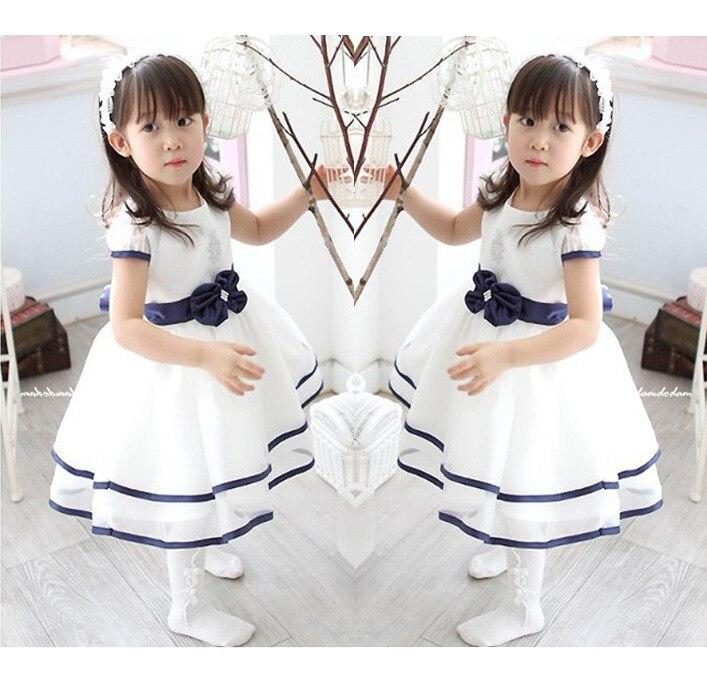 Girls' Princess Dress, Summer Children's Flower  Wedding Dress Baby Girl Clothes