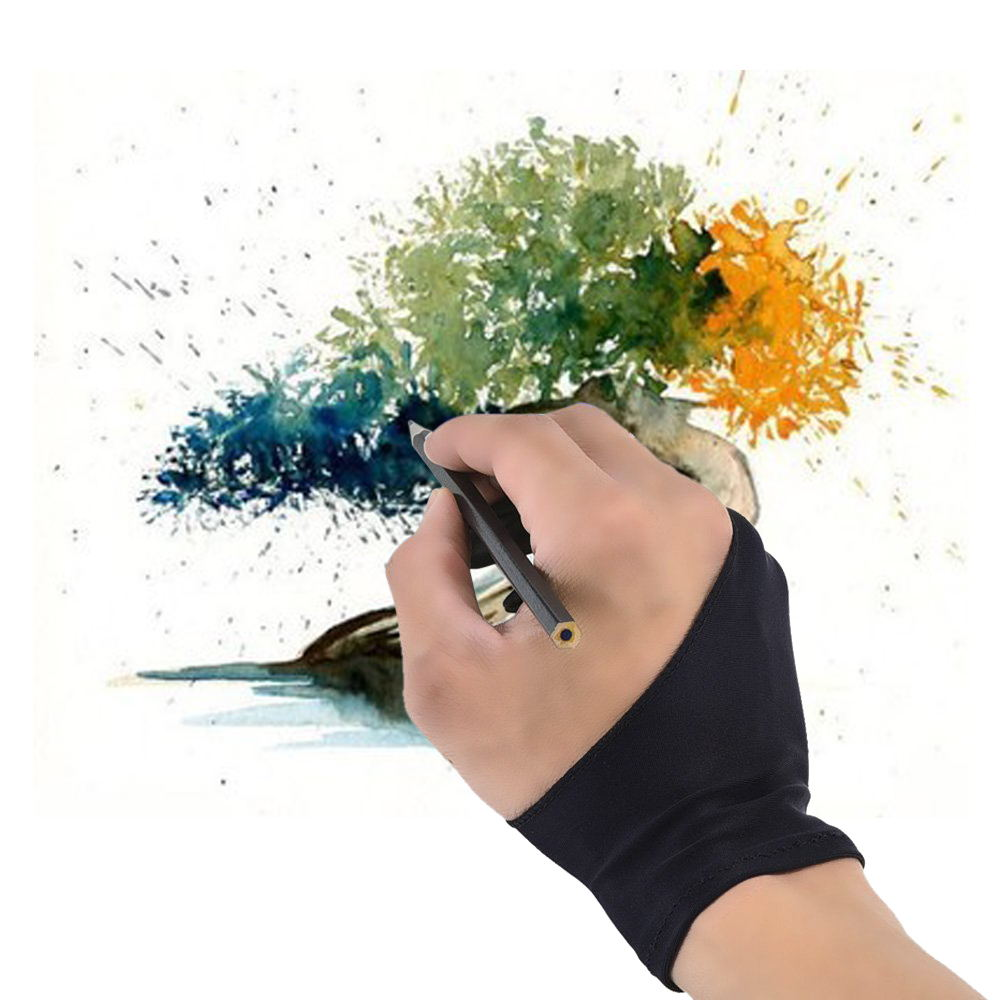 Free Size Artist Drawing Glove for Graphic Tablet Right// Left Hand YH