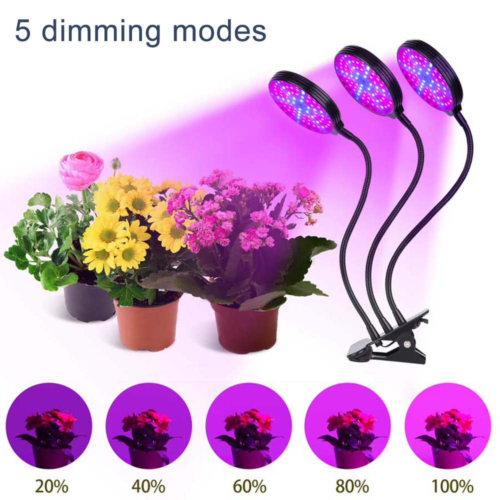 USB Powered Full Spectrum LED Grow Light Waterproof Clip-on  Phyto Lamp Desktop Plant Growth Lighting For Indoor Flowers