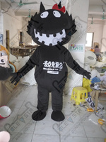 quality evil smile black cat mascot costumes cartoon black monster mascot design