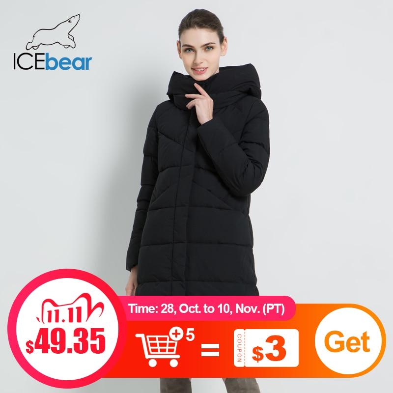 ICEbear 2020 Новая женская модная брендовая парка зимняя куртка простой дизайн с манжетами ветрозащитная теплая Женская куртка высокого качества GWD18150|Парки| | АлиЭкспресс