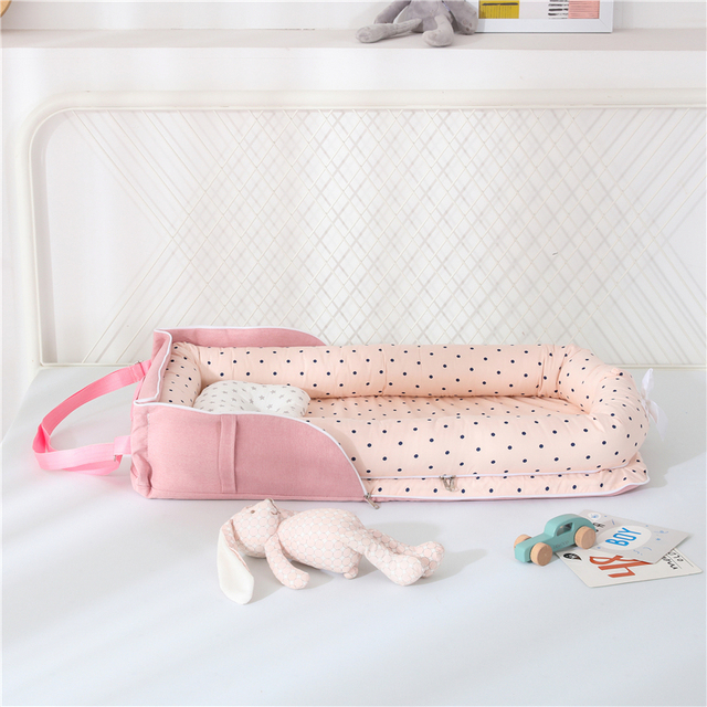 Baby Cradle Bumper Nest Portable 5